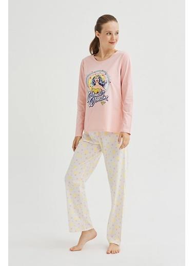 Penti Glıtter Wonder Woman Pijama Takımı Renkli